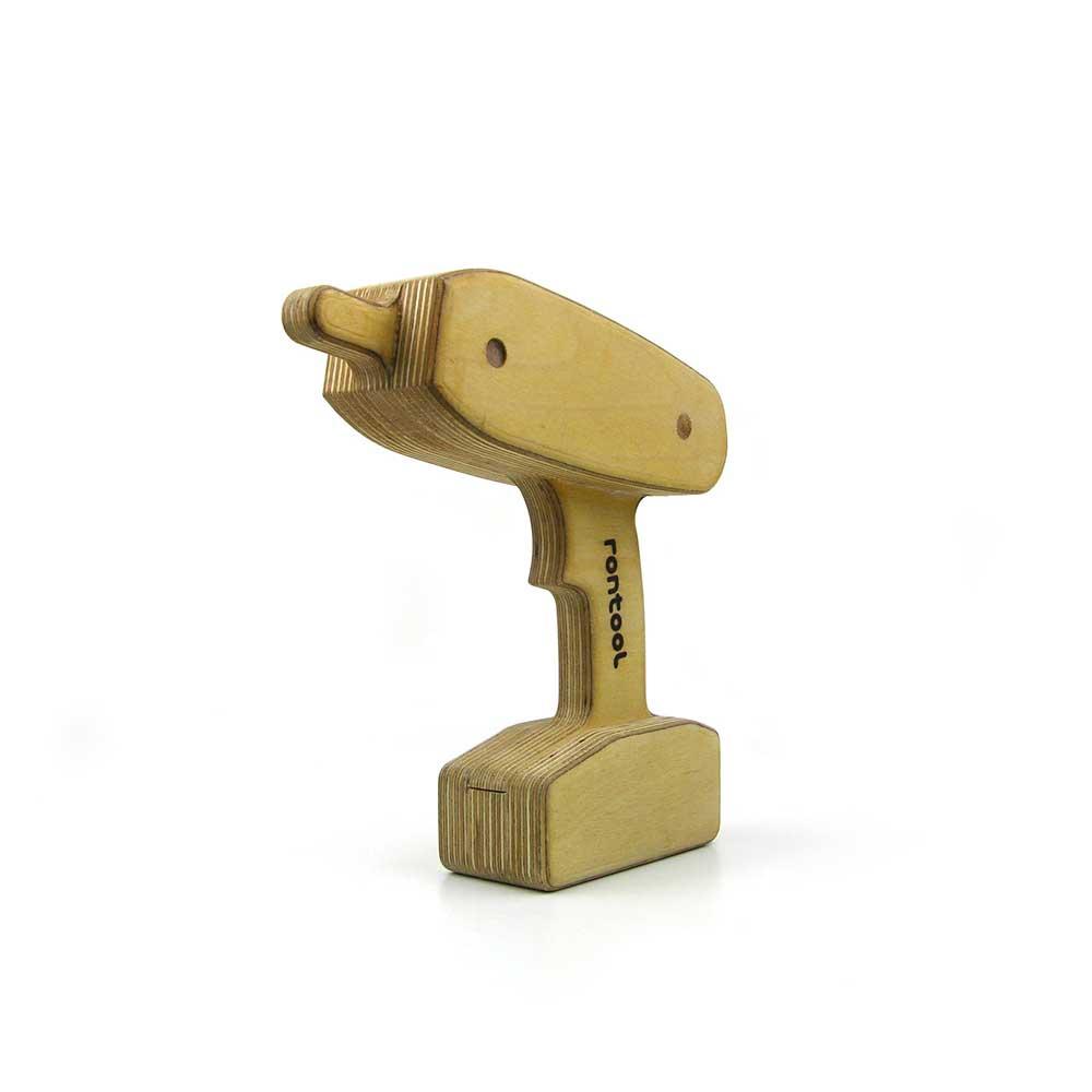 Rontool - Spielzeug aus Holz - spielen - Holzspielzeug - Werkzeug Werkzeuge - Akkuschrauber Bohrer fuer Kinder robust toll sicher aus Deutschland