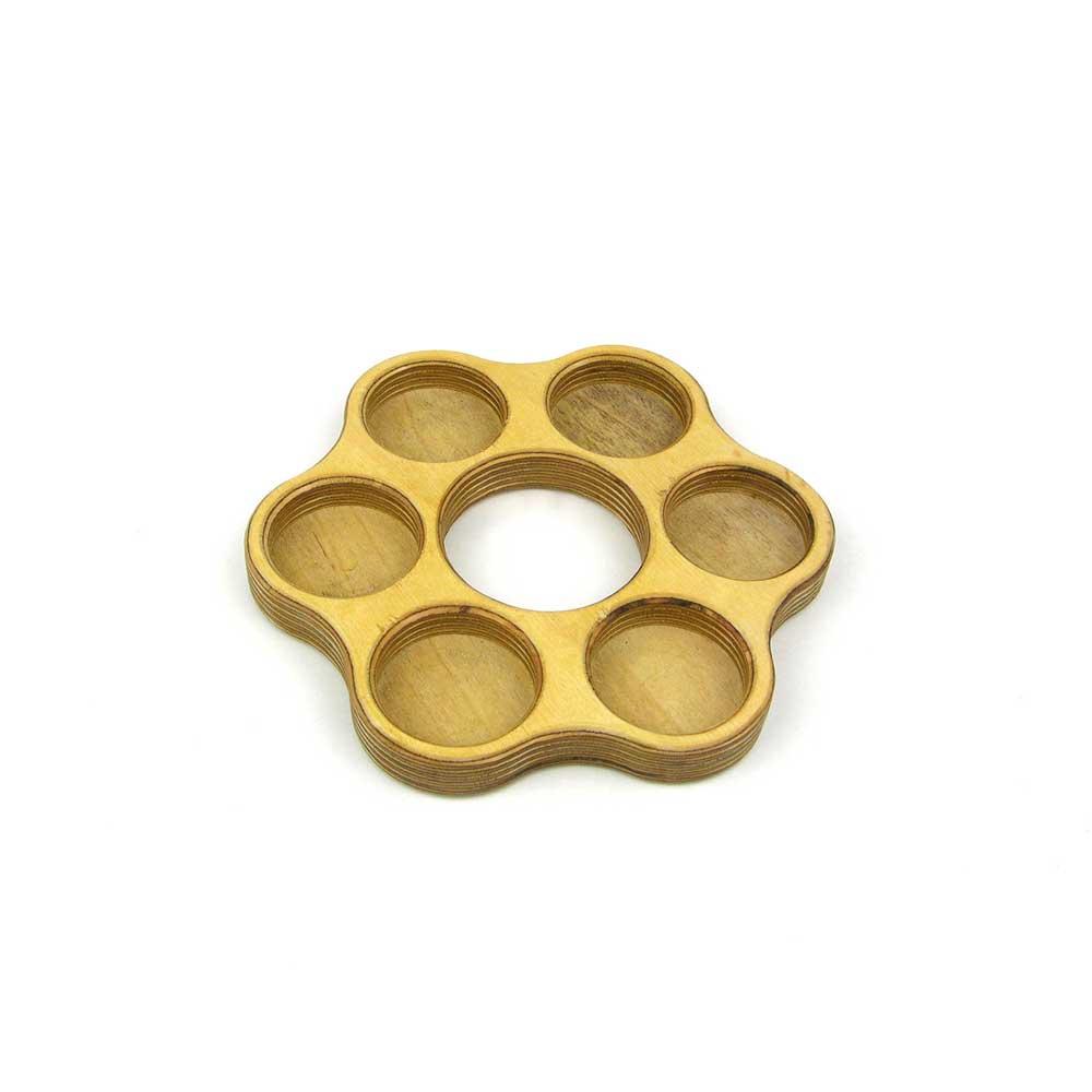 Rontool - Holzspielzeug - Spielzeug aus Holz fuer Erwachsene Kerzenhalter Teelicht Halter Teelichter