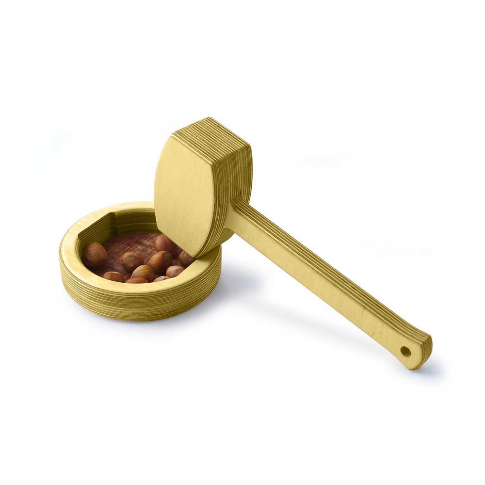 Rontool - Holzspielzeug - Spielzeug aus Holz fuer Erwachsene grosser Hammer Nuss Nuesse knacken robust beste Qualität