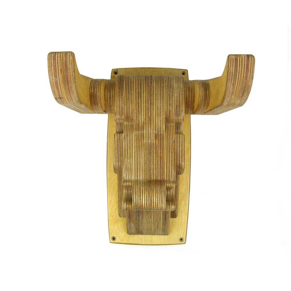Rontool - Holzspielzeug - Spielzeug aus Holz fuer Erwachsene Kopf eines Bullen Stierkopf Fahrrad-Halter