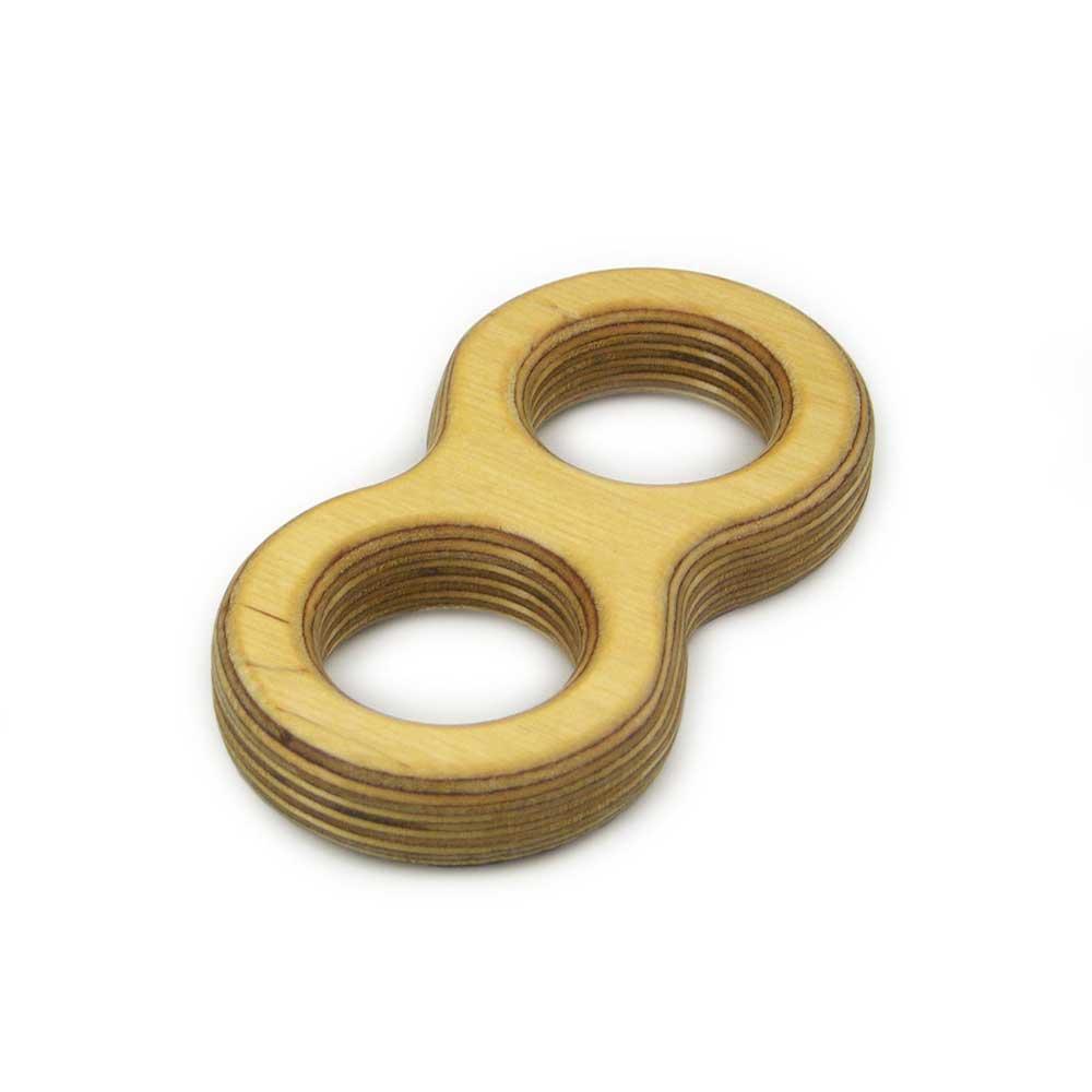 Rontool - Spielzeug aus Holz - Holzspielzeug Doppelter Faedelring Holzspielzeug fuer Kinder und Erwachsene Männer und Frauen Spielzeug aus Holz hand gertigt hand-made
