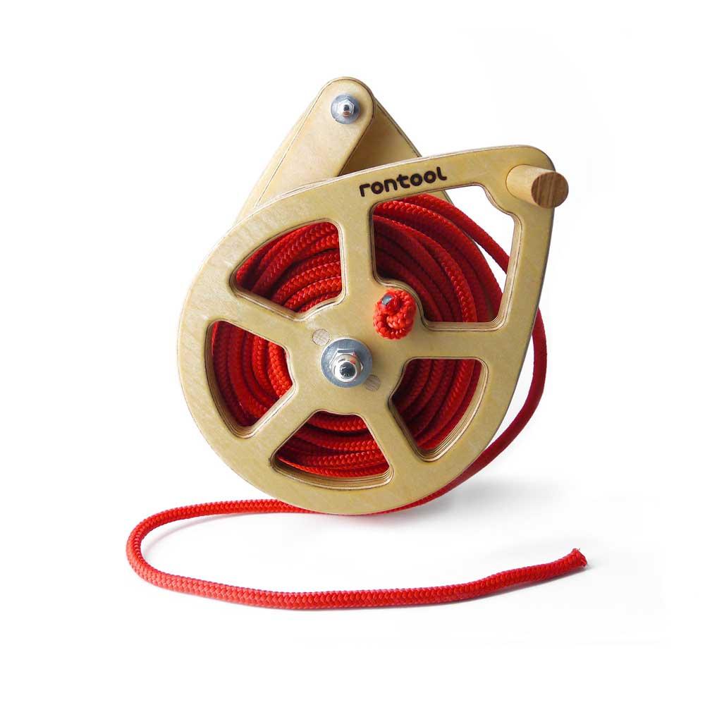 Rontool - Spielzeug aus Holz - Holzspielzeug Seilwinde Holzspielzeug fuer Kinder und Erwachsene Männer und Frauen Spielzeug aus Holz robust sicher