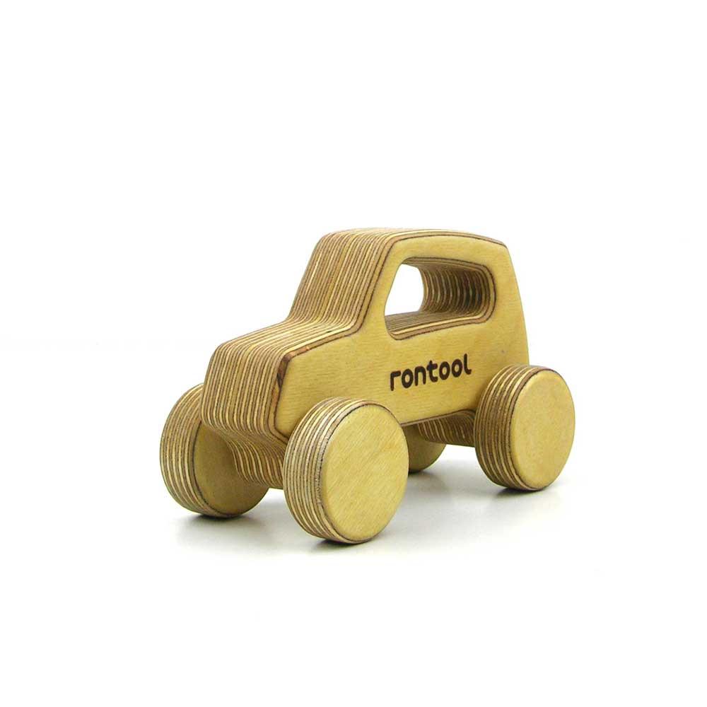 Rontool - Spielzeug aus Holz - Holzspielzeug Fahrzeuge Auto mit dem Auto fahren fuer Kinder robust toll sicher aus Deutschland