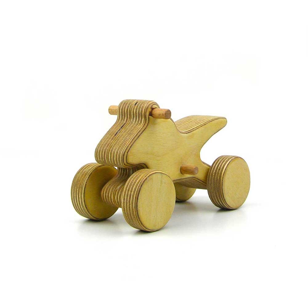 Rontool - Spielzeug aus Holz - Holzspielzeug Fahrzeuge Action Quad fahren Abenteuer fuer Kinder robust toll sicher aus Deutschland